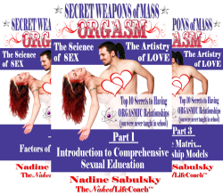 Secret Weapons of Mass Orgasm: The Science of Sex & The Artistry of Love in 11 parts (sold separately for your convenience)